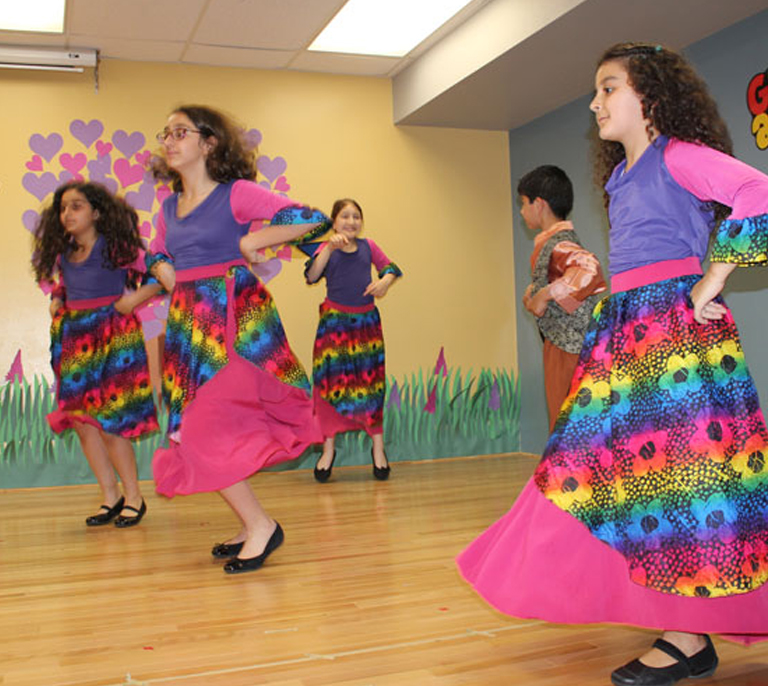 Group dance, reflecting Lebanese culture
